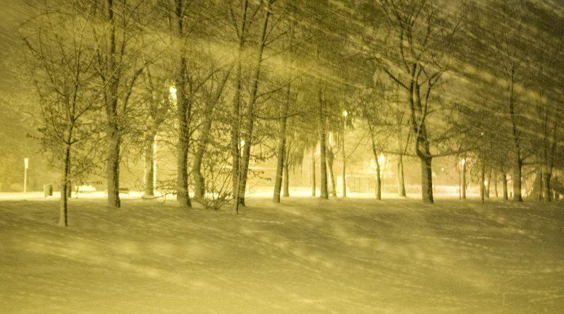 blachownia, zima wblachowni