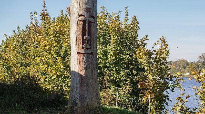 blachownia, rzeźba z blachowni, drzewa blachowni